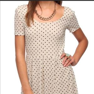Anthropologie/Pins and Needles poka dot Dress